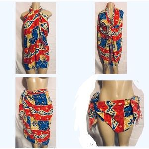 Womans Swim Suit Sarong Wrap Cover Up Scarf Dress